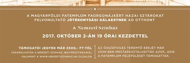 Faorgonát a Fatemplomba! – Jótékonysági Gála a Nemzeti Színházban